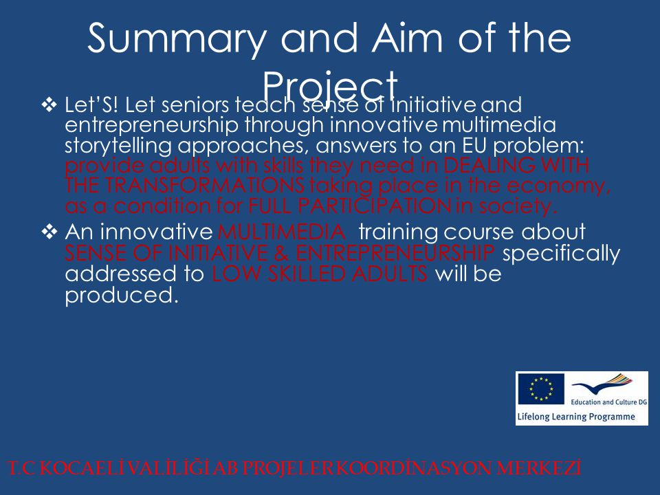 Summary and Aim of the Project  Let'S.