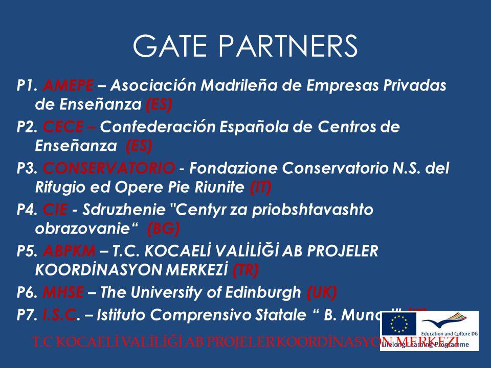 GATE PARTNERS P1. AMEPE – Asociación Madrileña de Empresas Privadas de Enseñanza (ES) P2.