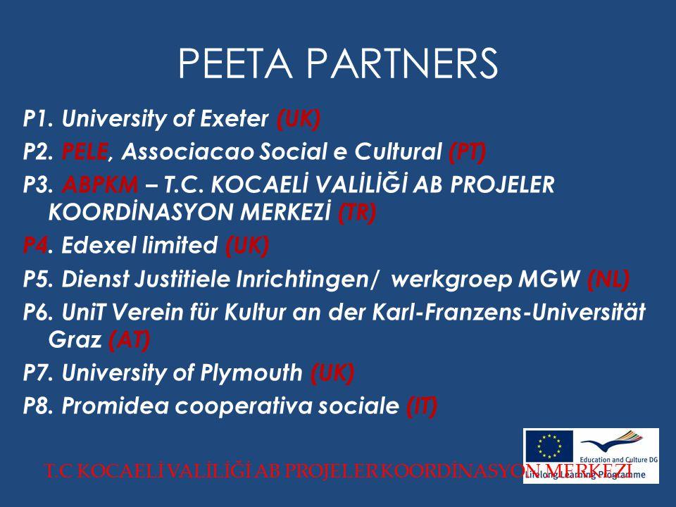 PEETA PARTNERS P1. University of Exeter (UK) P2. PELE, Associacao Social e Cultural (PT) P3.