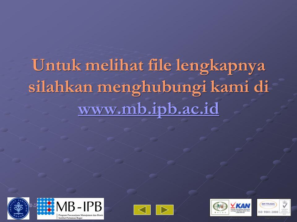 PP/MB-IPB/10 Untuk melihat file lengkapnya silahkan menghubungi kami di www.mb.ipb.ac.id www.mb.ipb.ac.id