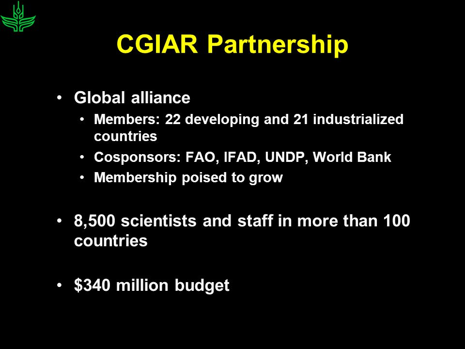 CGIAR-supported Future Harvest Centers