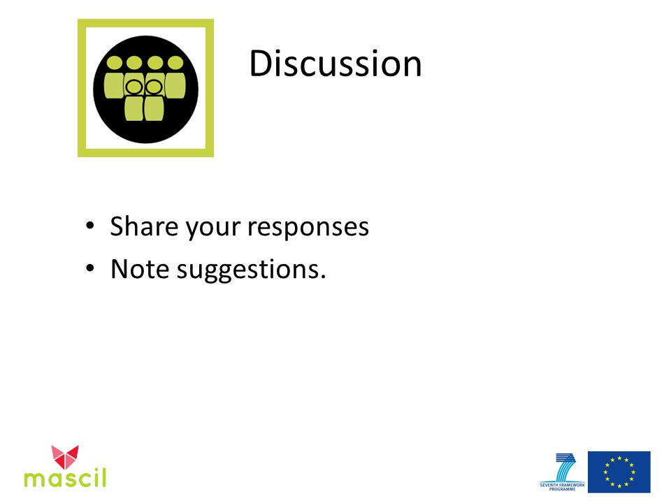 Discussion Share your responses Note suggestions.