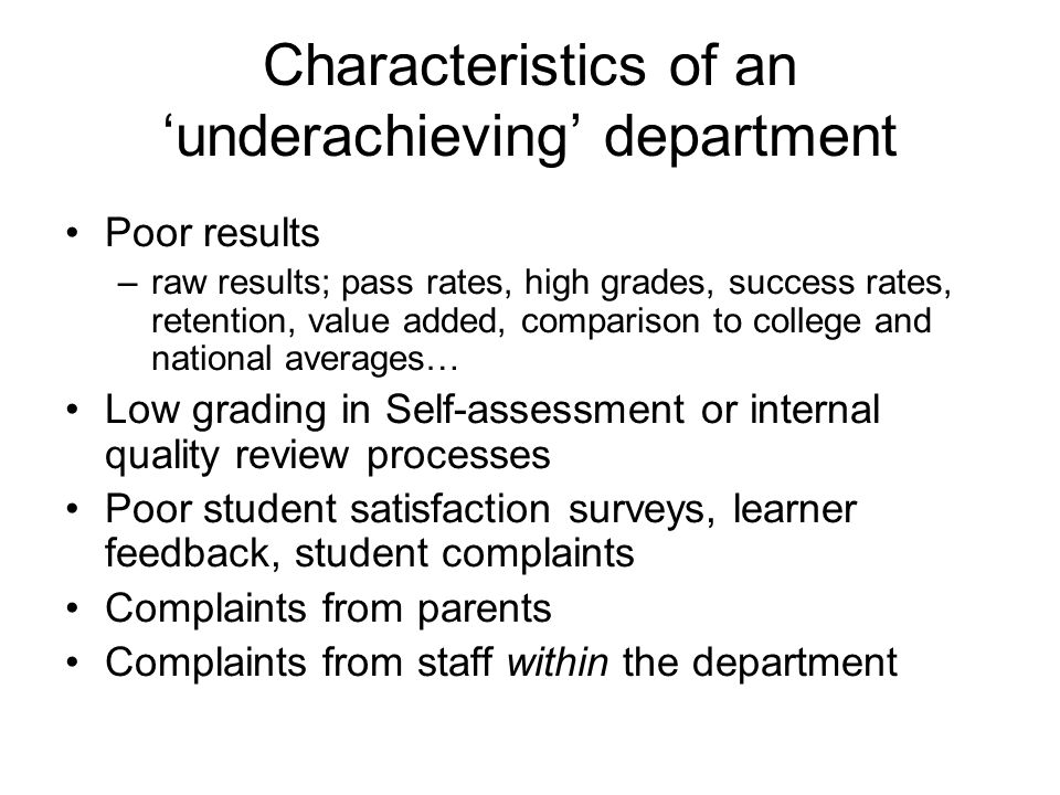UNDERACHIEVER! Must Try Harder
