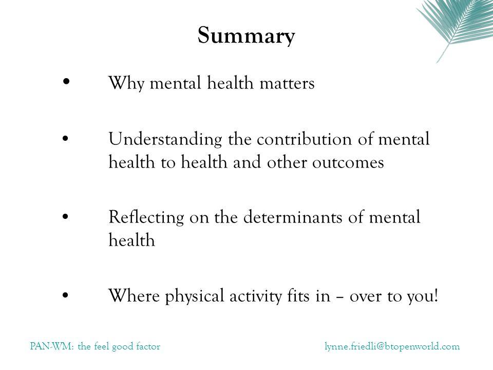 Psycho-biological pathways..........