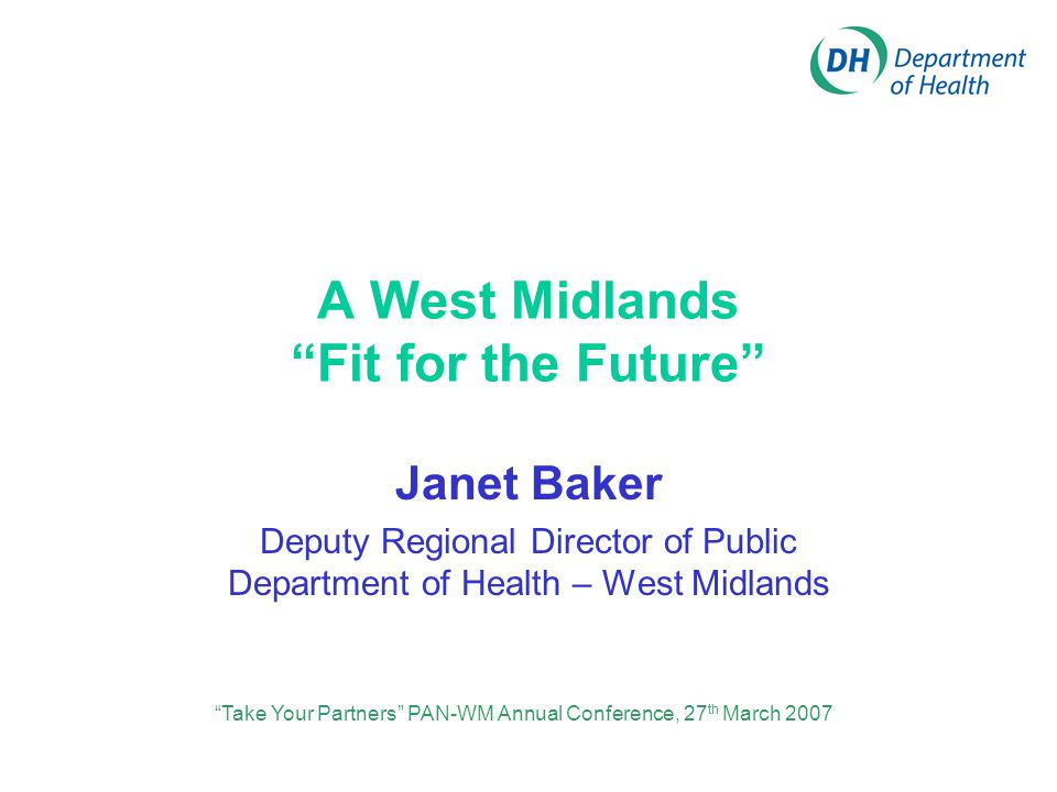 The challenges for the West Midlands The emerging structures for physical activity Regional strategy and its impacts on physical activity Regional priorities What progress has been made A challenge for the future 5 top tips