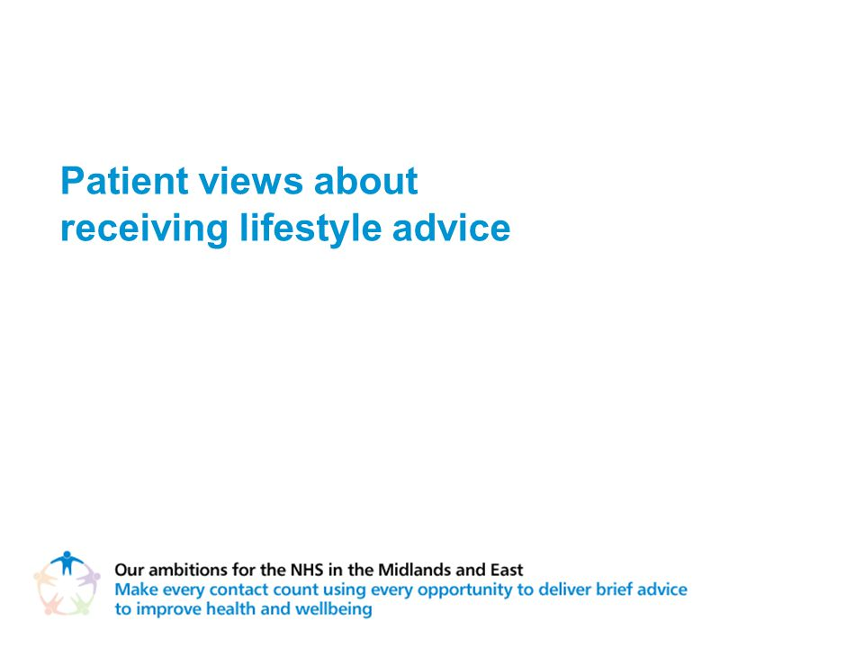 Patient views about receiving lifestyle advice