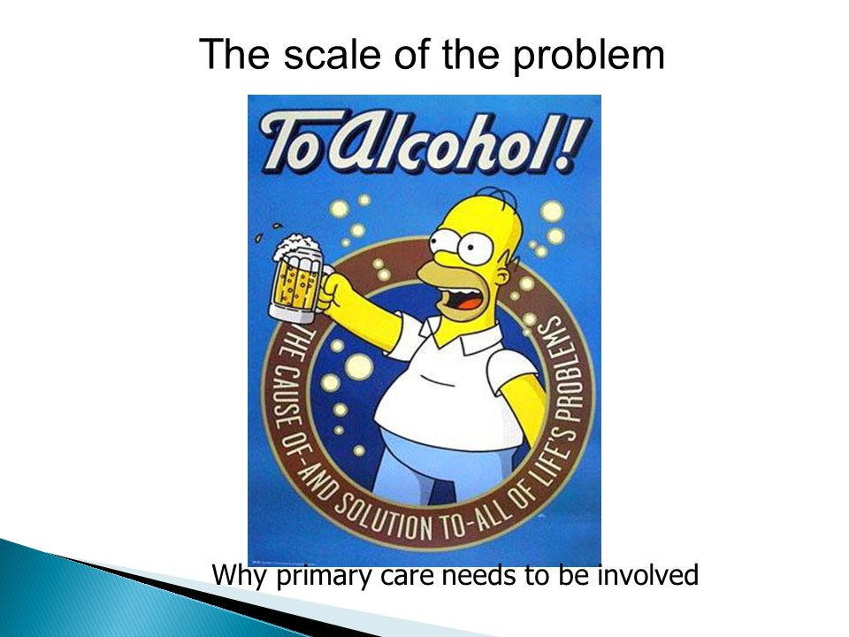 The scale of the problem Why primary care needs to be involved