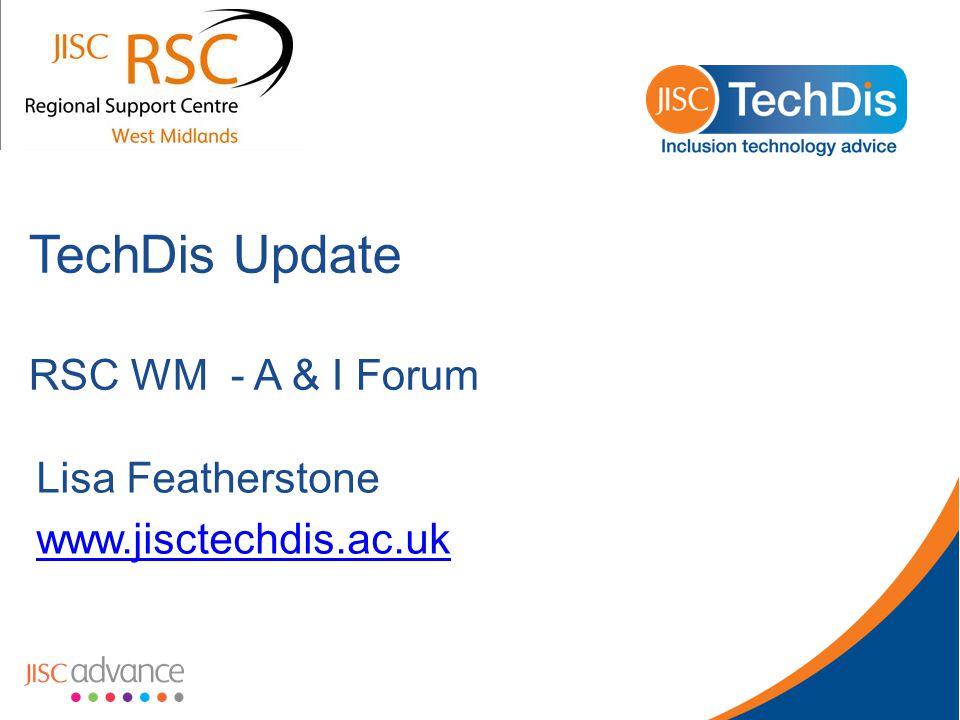 TechDis Toolbox www.jisctechdis.ac.uk/tbx www.jisctechdis.ac.uk/tbx