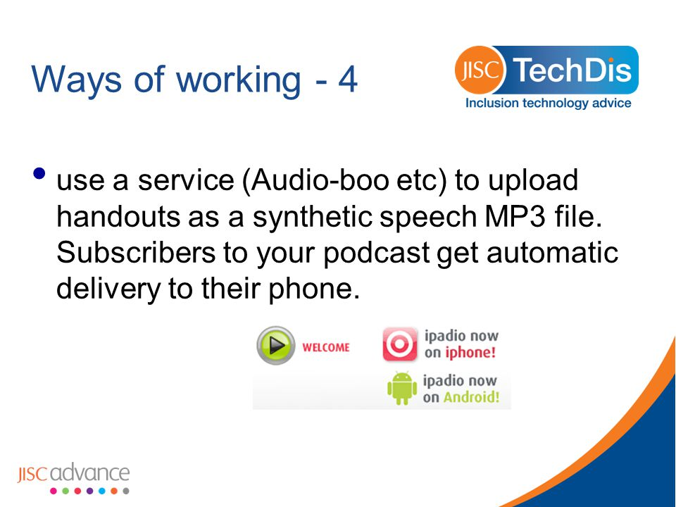 Ways of working - 5 Audio instructions for practical and fieldwork.