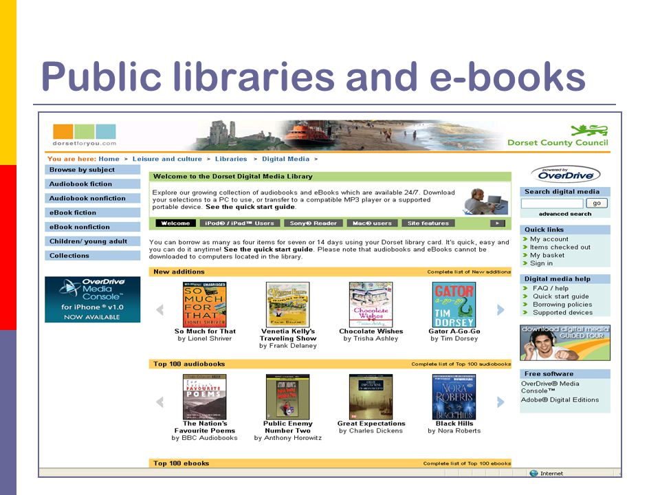 Public libraries and e-books
