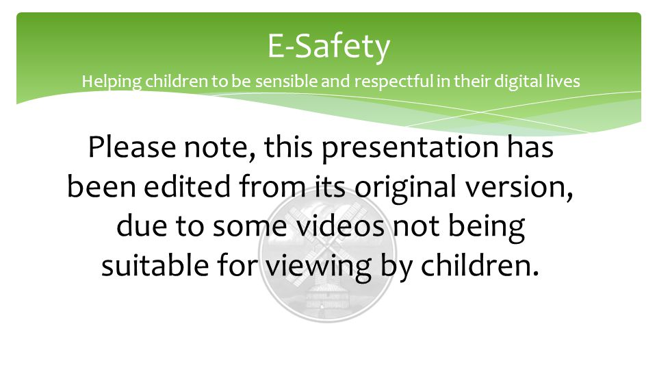 Please note, this presentation has been edited from its original version, due to some videos not being suitable for viewing by children.