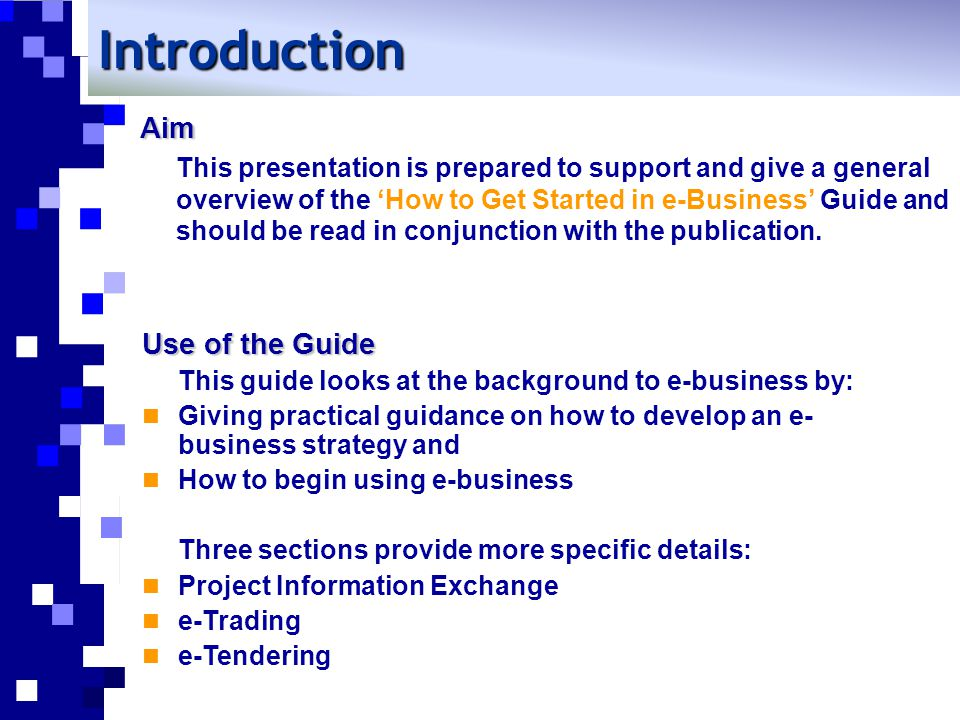 Introduction What is e-Business.