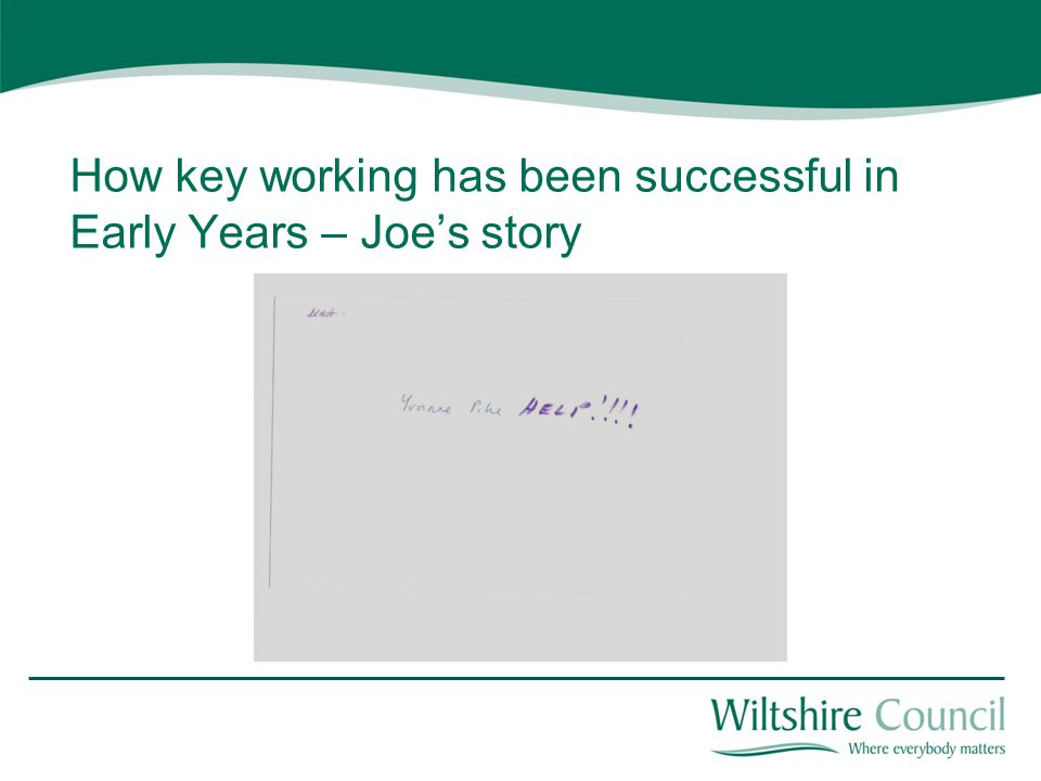 How key working has been successful in Early Years – Joe's story