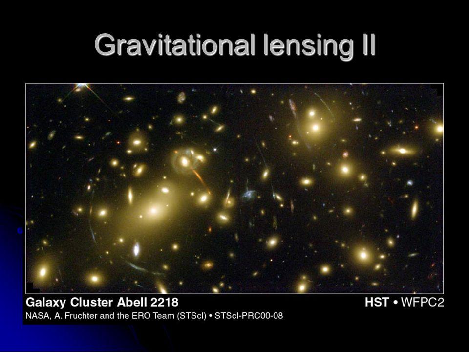 Gravitational lensing II