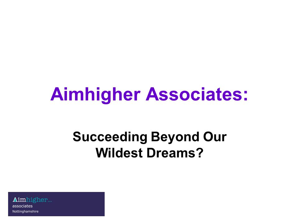 Introduction: Outline of the Associates scheme Bridging the higher education gap - learners from the lowest socio-economic categories who have the potential to succeed.