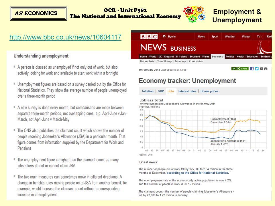 Employment & Unemployment http://www.bbc.co.uk/news/10604117