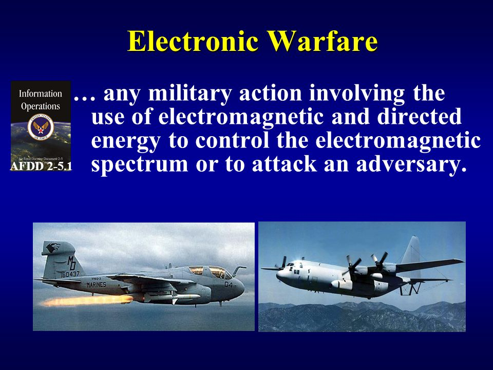 Chaff Thin strips of metal or metalized glass Reradiate the radar energy Cut to counter specific frequencies Purpose – Generate False Targets – Deny Radar Scan (Chaff Corridor) – Track breaking (against target trackers) In operational use since 1943
