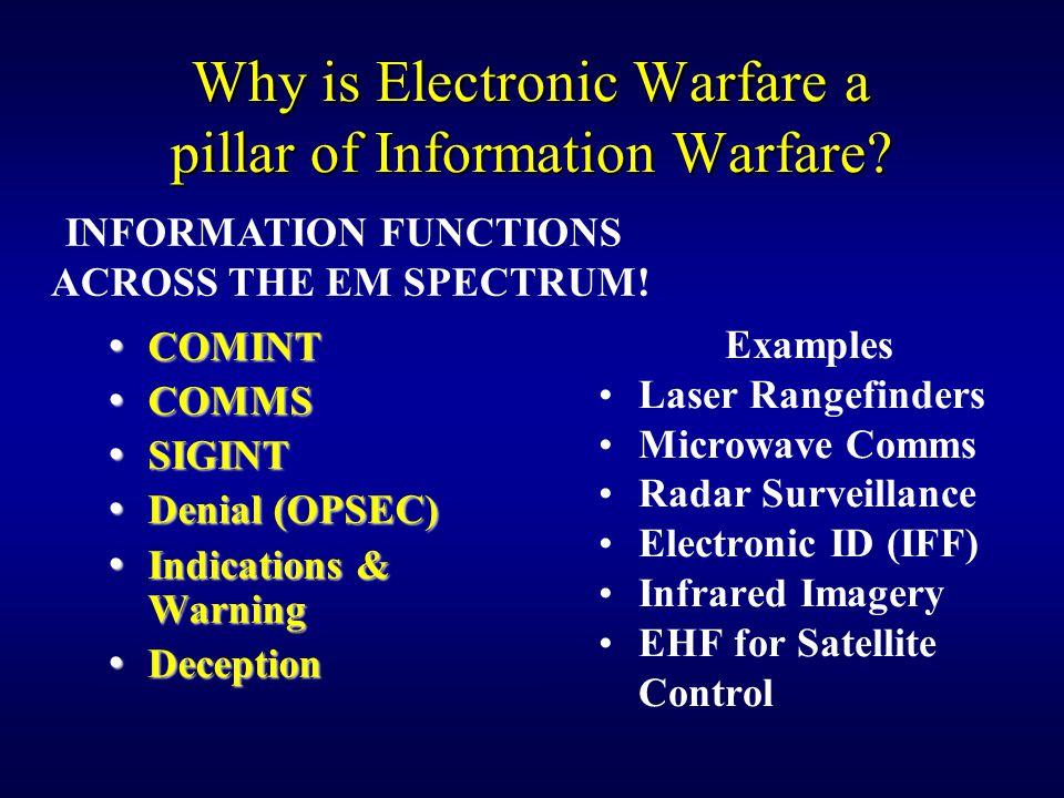 Why is Electronic Warfare a pillar of Information Warfare.