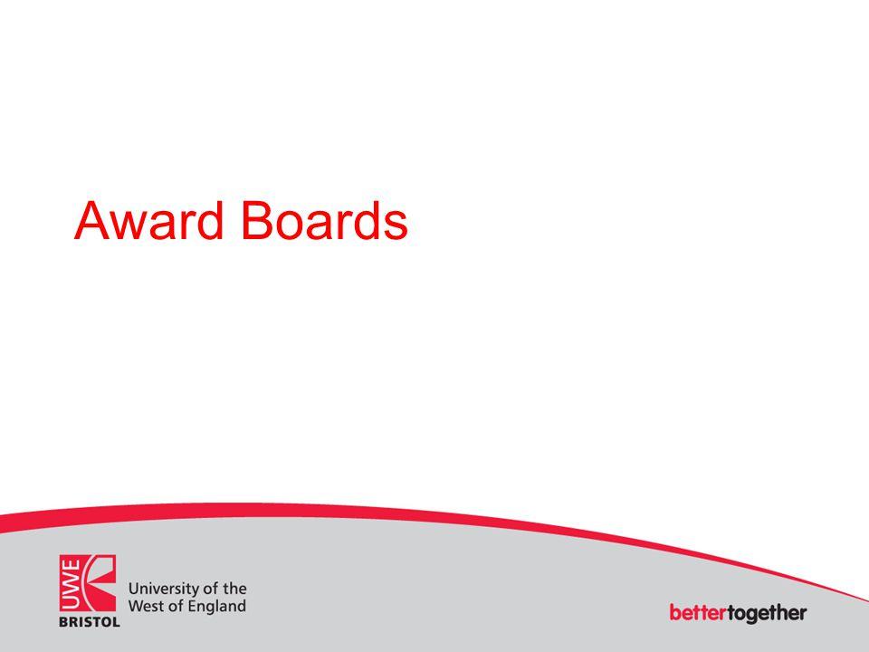 Award Boards