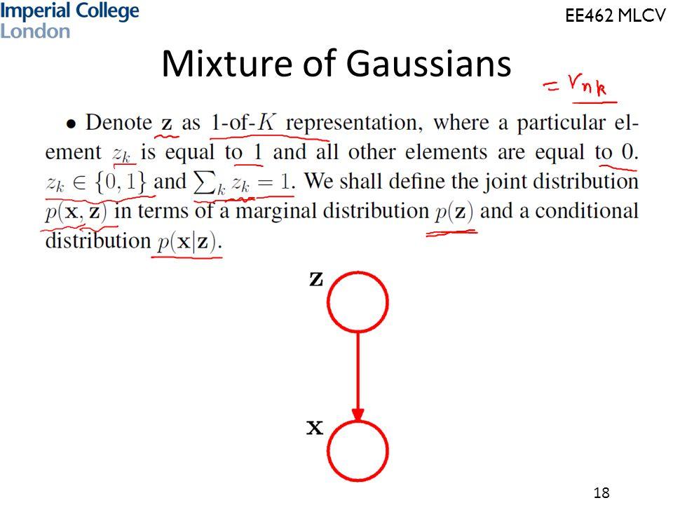 EE462 MLCV 18 Mixture of Gaussians