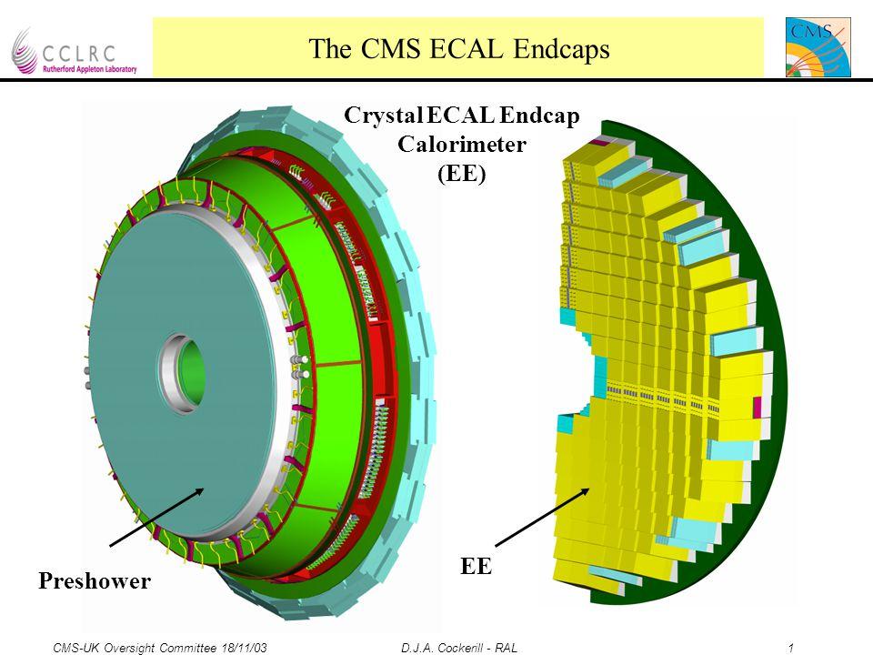 CMS-UK Oversight Committee 18/11/03 D.J.A. Cockerill - RAL 12 Additional info follows, next slide