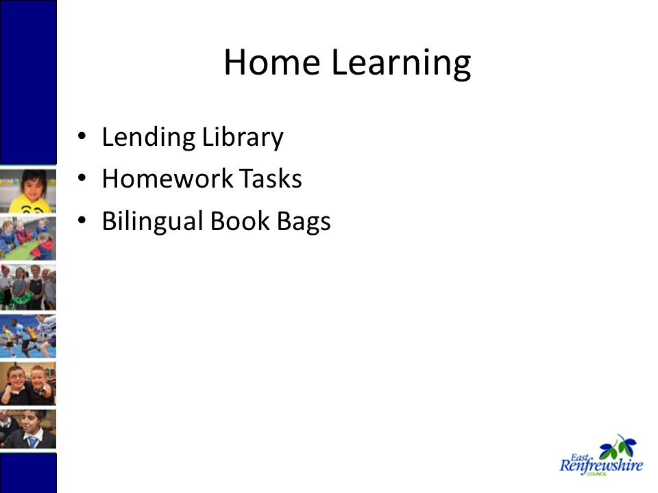 Home Learning Lending Library Homework Tasks Bilingual Book Bags