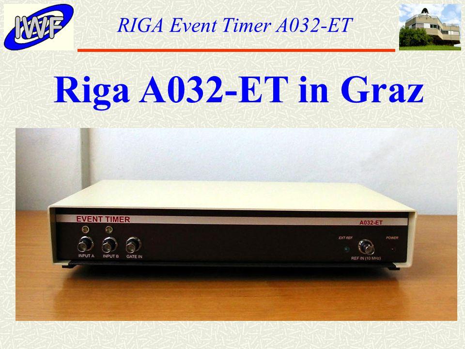 RIGA Event Timer A032-ET Riga A032-ET in Graz