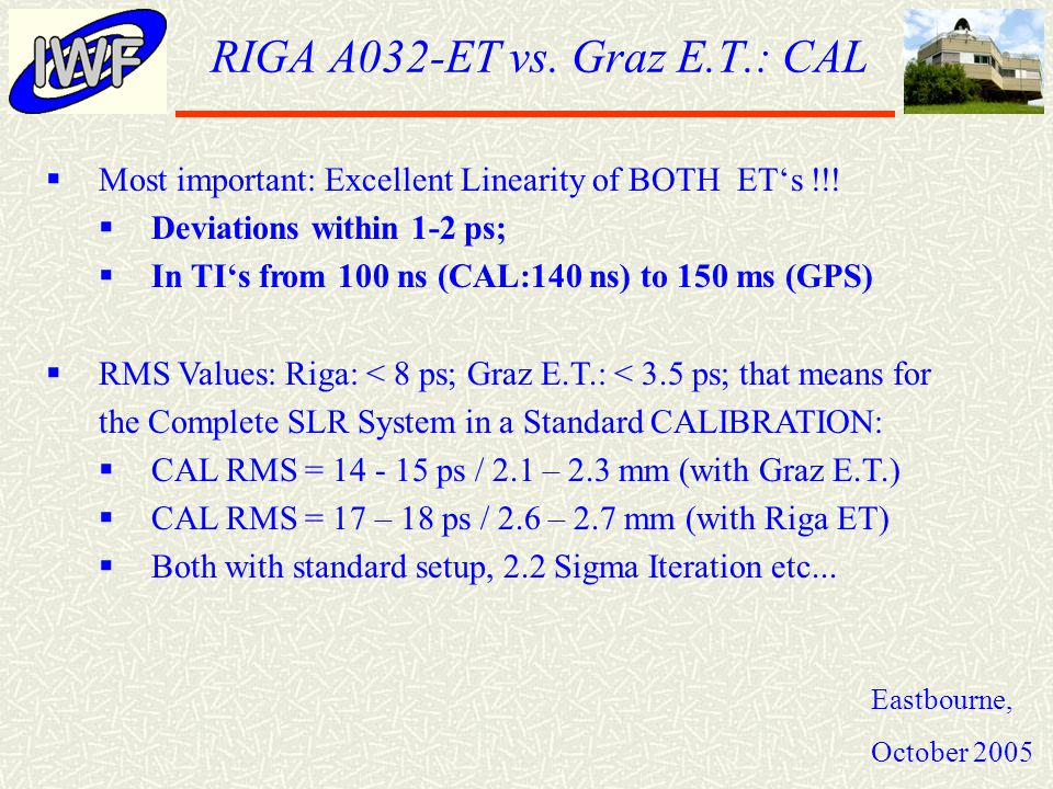 RIGA A032-ET vs.