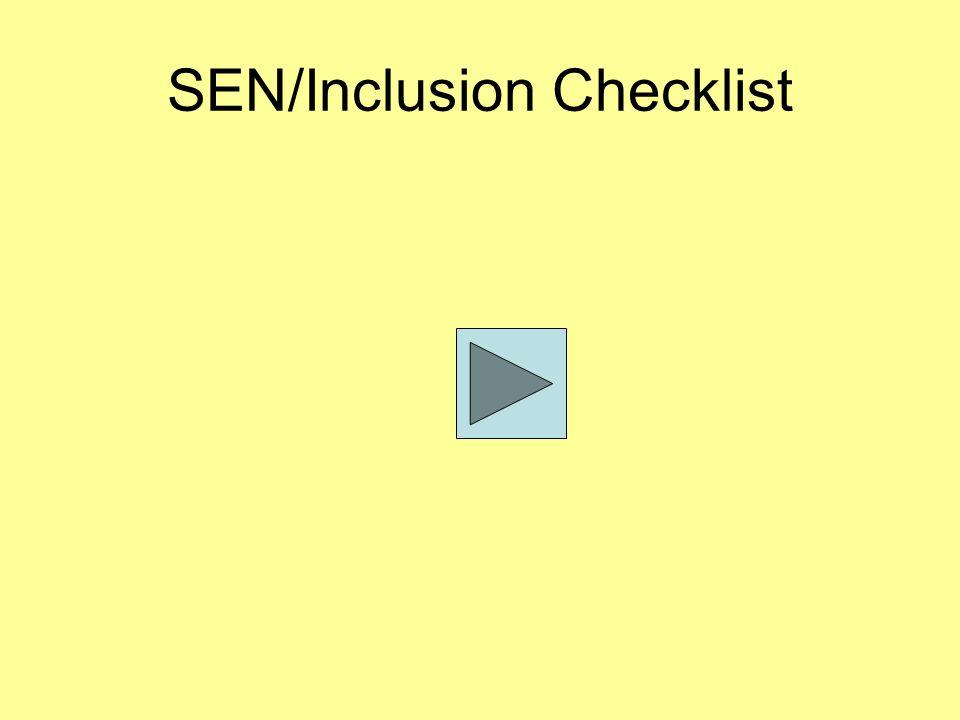 SEN/Inclusion Checklist