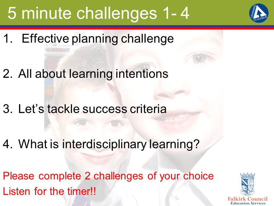 5 minute challenges 1- 4 1.