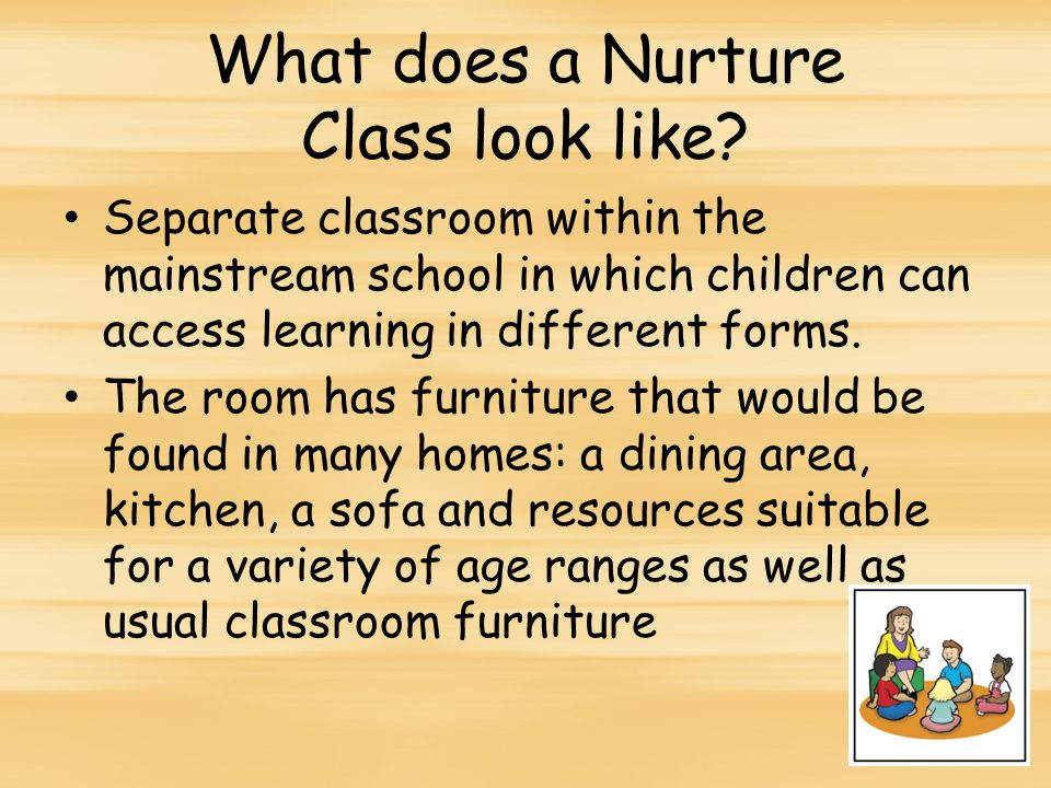 What does a Nurture Class look like.