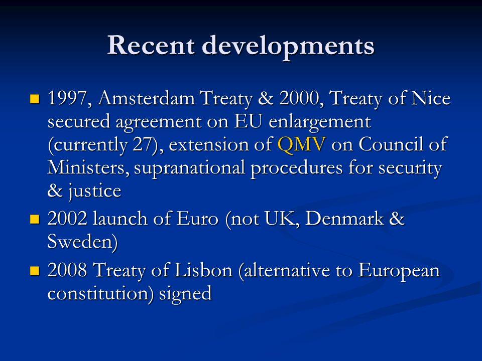 Europe & New Labour Blair's govt.more pro- Europe Blair's govt.