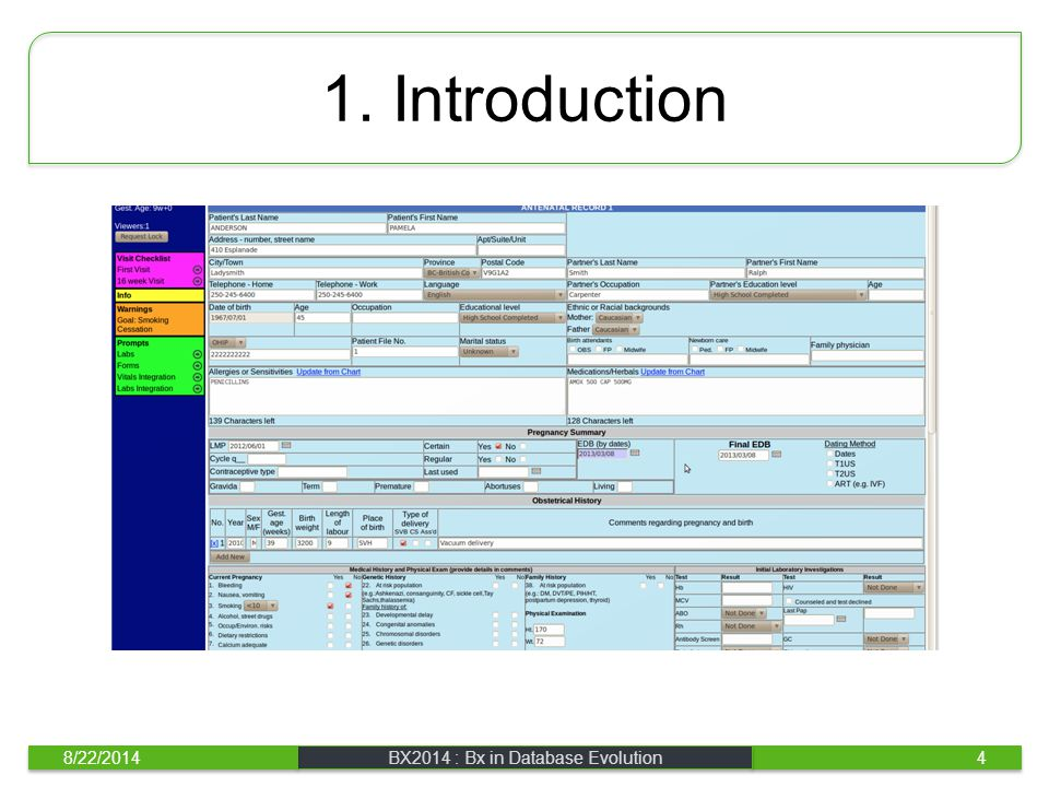 1. Introduction 8/22/2014BX2014 : Bx in Database Evolution4