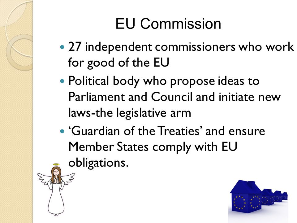 Council of Ministers Main decision-making body Membership varies depending on the topic discussed; ◦ E.g.