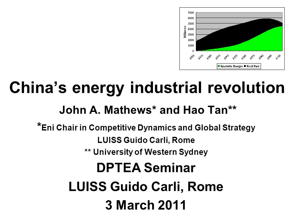 China's energy industrial revolution John A.
