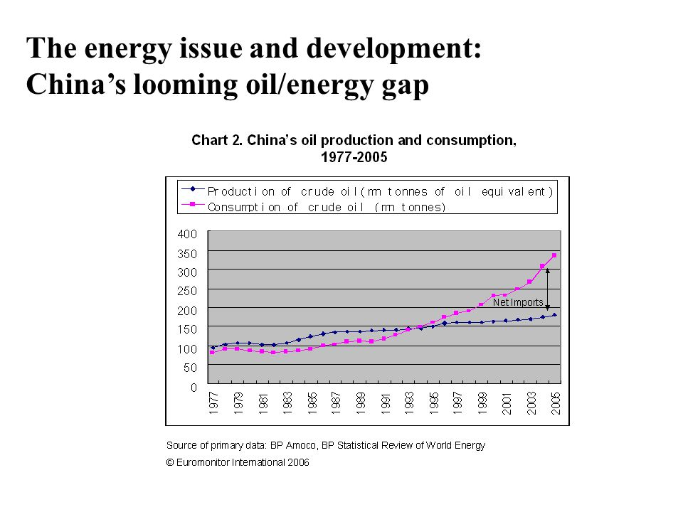 The energy issue and development: China's looming oil/energy gap