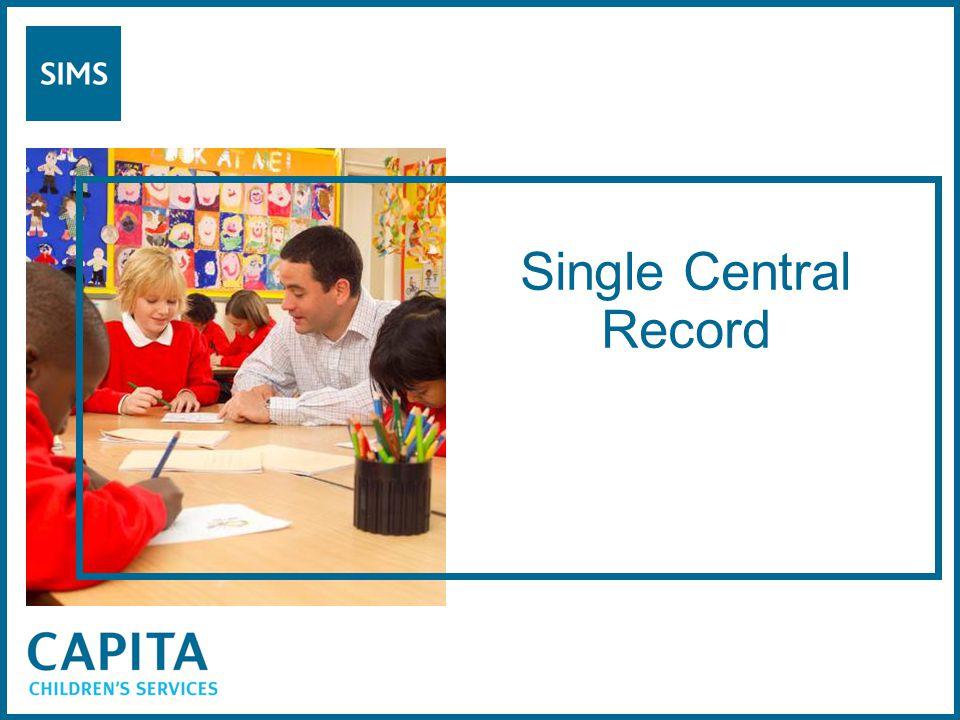 Single Central Record