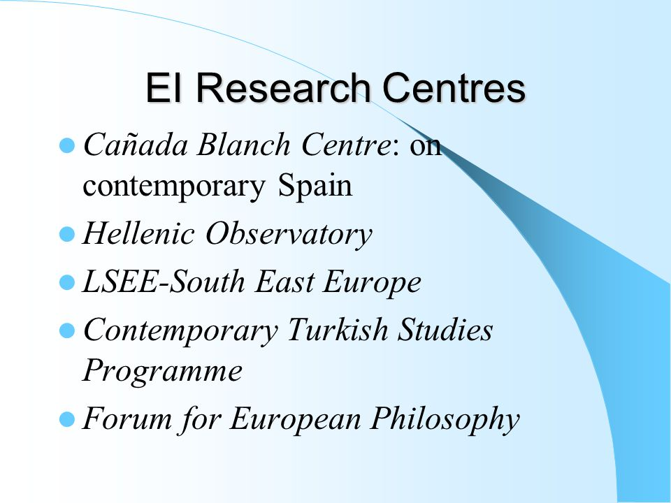 What You Need to Do (5) Go to Options Fair - FRIDAY MSc European Political Economy and MSc European Studies: Ideas and Identities: Friday 10.30am-11.30am in CLM 6.02.