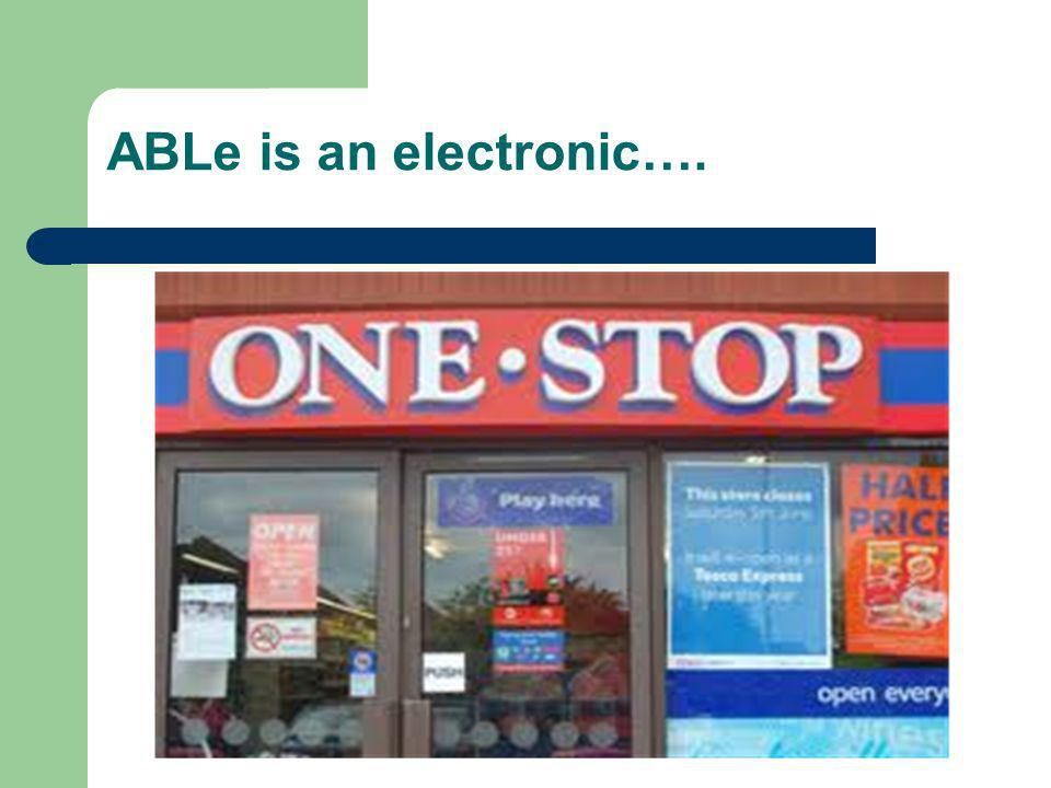 ABLe is an electronic….