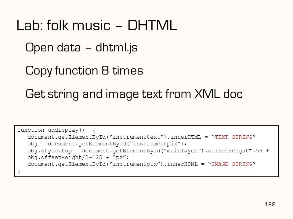 "129 function uddisplay() { document.getElementById(""instrumenttext"").innerHTML = ""TEXT STRING"" obj = document.getElementById(""instrumentpix""); obj.sty"