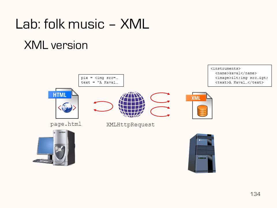 "Lab: folk music – XML XML version 134 page.html XMLHttpRequest kaval &lt;img src…&gt; A Kaval… pix = <img src=… text = ""A Kaval…"