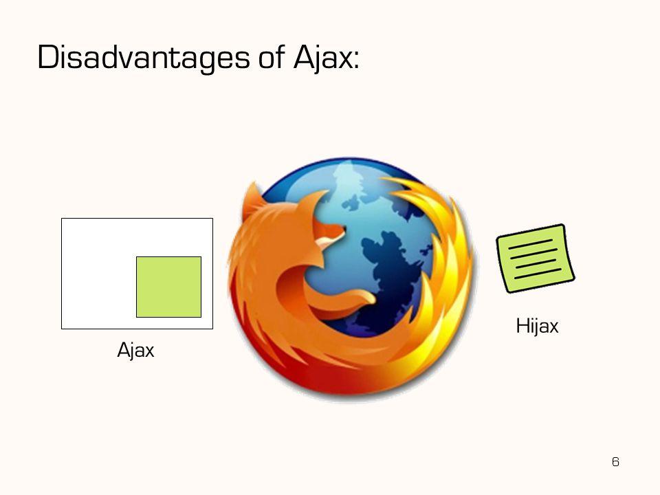 Disadvantages of Ajax: 6 Hijax Ajax