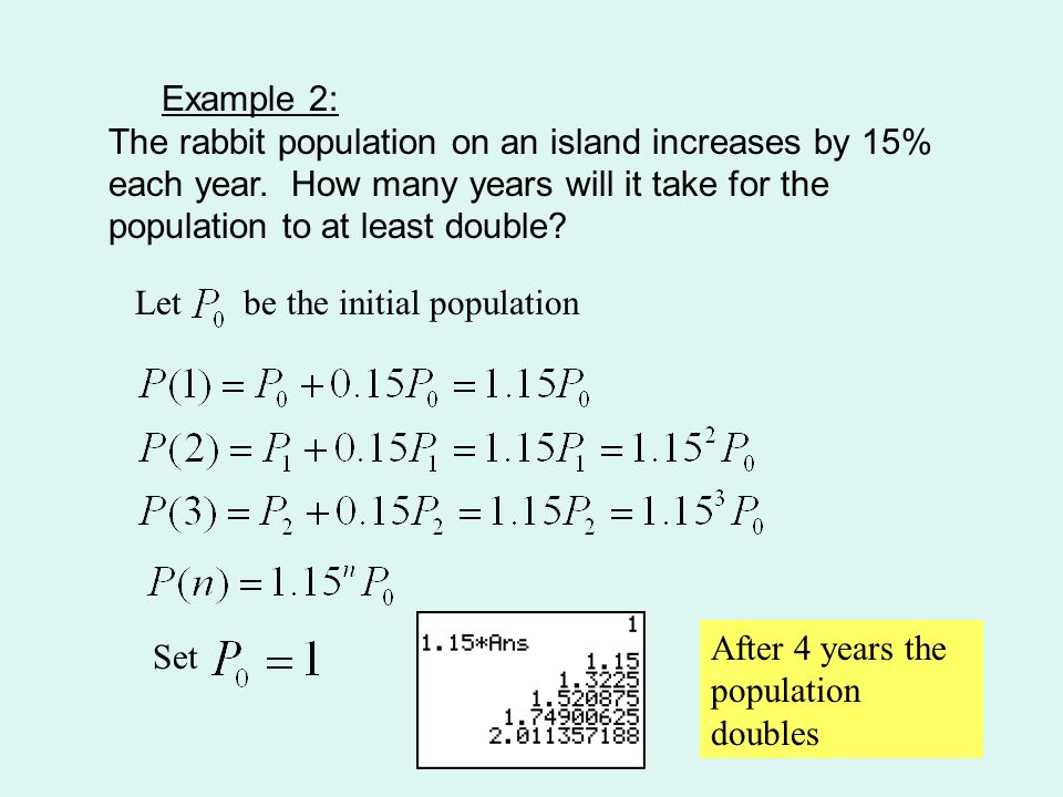 A Special Exponential Function – the Number e The letter e represents the value 2.718…..