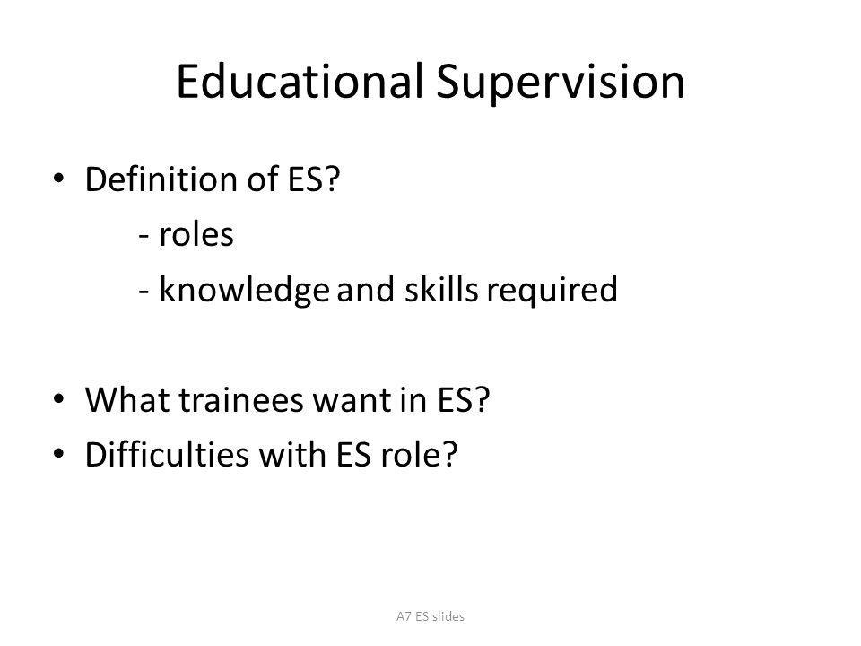 "Presentation ""London Deanery EDUCATIONAL SUPERVISION A7 ES slides."""