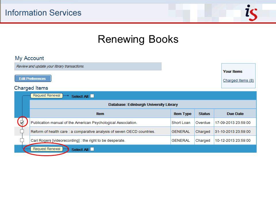 Renewing Books