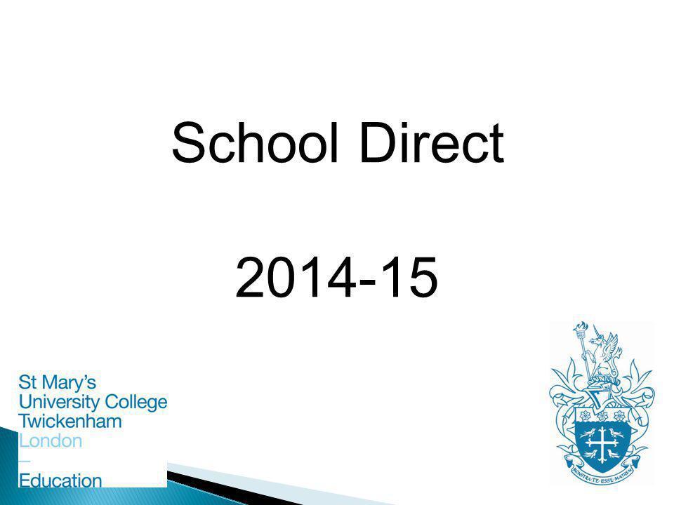 School Direct 2014-15
