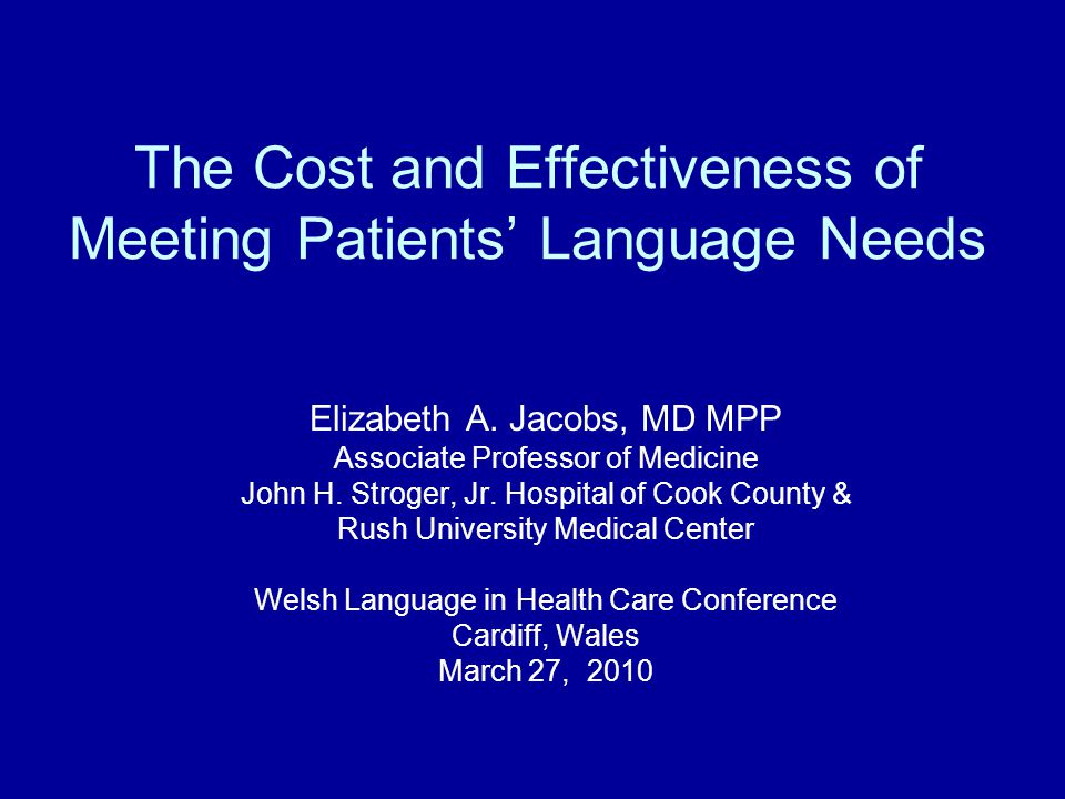 Increased Visit Time Use of interpreters has been shown to increase primary care encounter time for resident physicians, increasing visit costs by 15-25% 12 Other studies have found no increase in mean visit encounter time, and therefore costs, in interpreted encounters 13,14 12 Kravitz, et al.