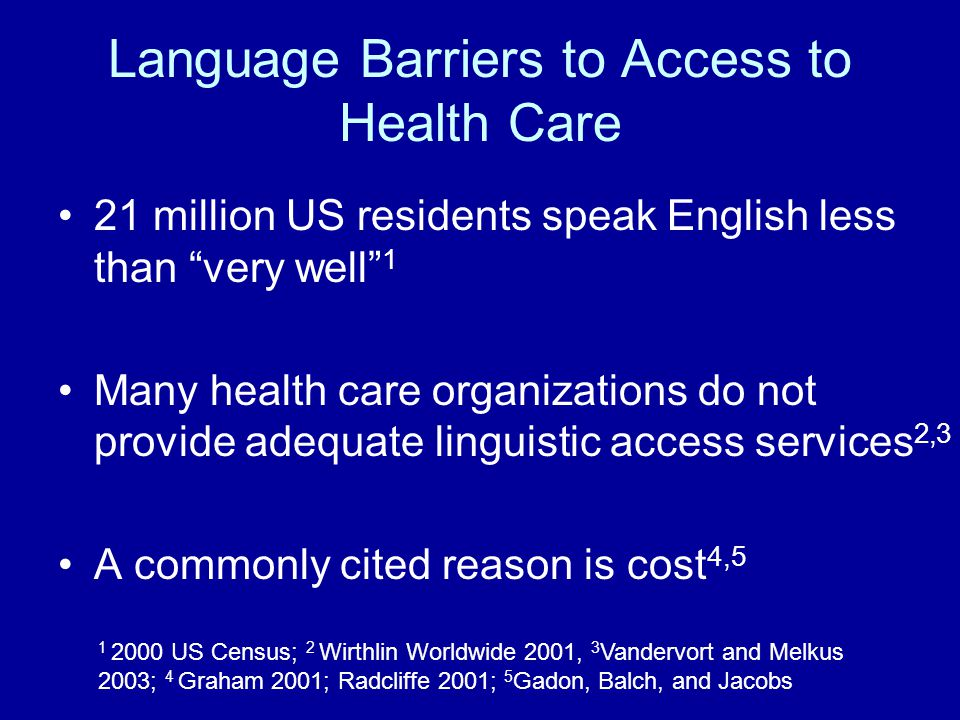 Cost-benefits of Providing Language Services Does provision of services reduce costs.