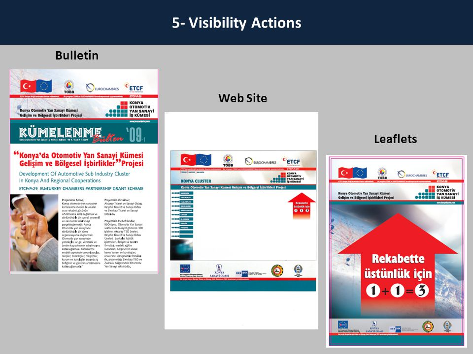 18 5- Visibility Actions 18 Bulletin Web Site Leaflets