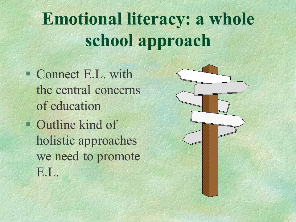 Emotional literacy: a whole school approach §Connect E.L.